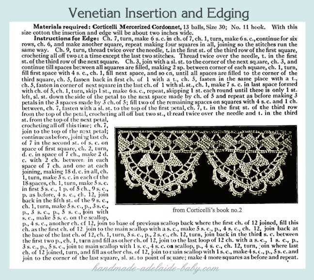 Crochet Lace Pattern For Edging : CROCHET LACE EDGING PATTERNS Free Patterns