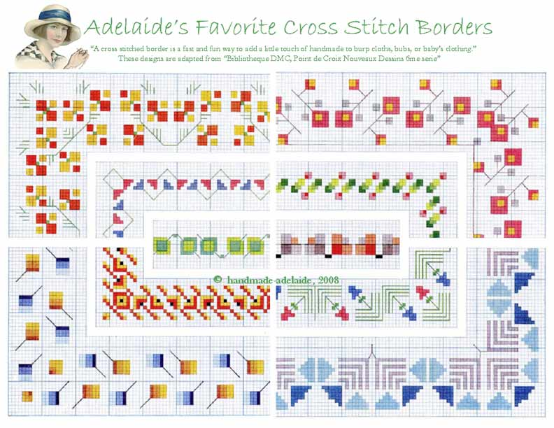 free cross stitch patterns borders