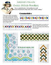 free cross stitch patterns borders geometric