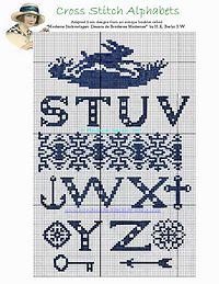 free cross stich pattern alhabet