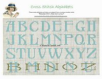 cross stitch alphabet free
