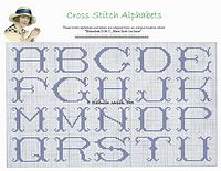 free cross stitch pattern alphabet