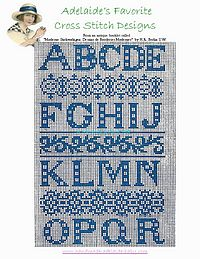 free cross stitch pattern alphabets