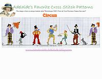 free cross stitch pattern circus