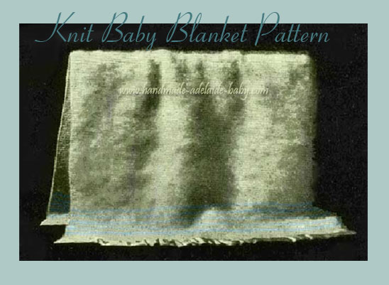 free knitted baby blanket pattern