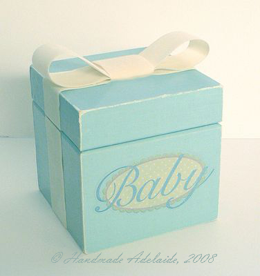 homemade baby keepsake box