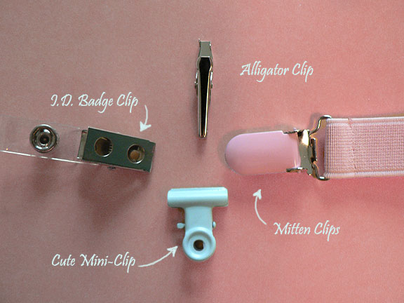 pacifier clip options