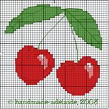 Free Cherry Cross Stitch Pattern