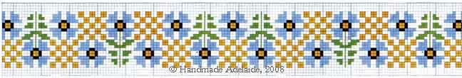 free cross stitch borders flowers