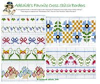 free cross stitch borders floral